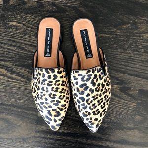 Leopard Steven Mules Size 6.5